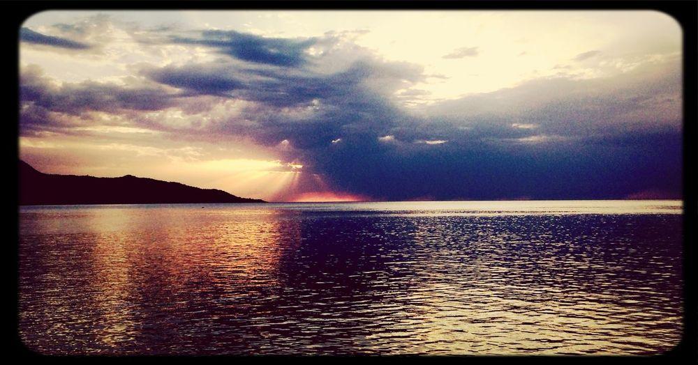 Sea Clouds And Sky Clouds Sun Set
