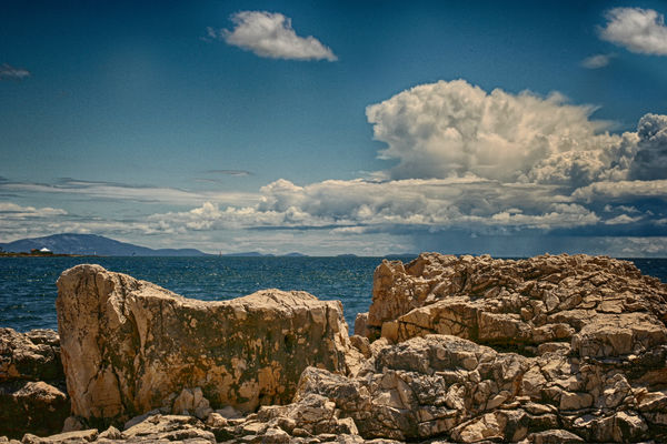 Beauty In Nature Blue Cloud - Sky Croacia Day Land Nature No People Non-urban Scene Outdoors Rock Rock - Object Rock Formation Scenics - Nature Sea Sky Solid Tranquil Scene Tranquility Water