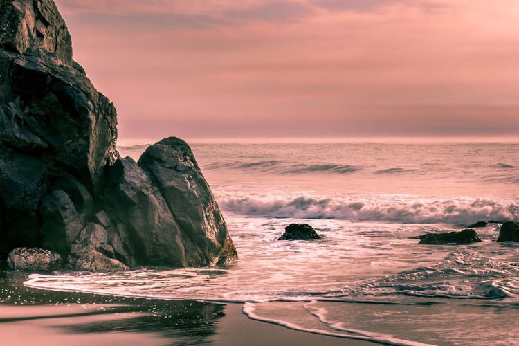 Trinidad California California Coast Pacific Ocean My Best Photo Sea Water Rock Rock - Object Solid Sunset Beauty In Nature Scenics - Nature Sky Rock Formation Nature Tranquility Tranquil Scene Horizon Over Water Cloud - Sky Motion Land Waterfront No People Outdoors Eroded