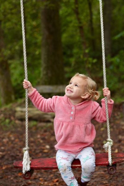 The little things in life Childhood Playground Swing Child Women One Person Holding Girls Innocence Happiness
