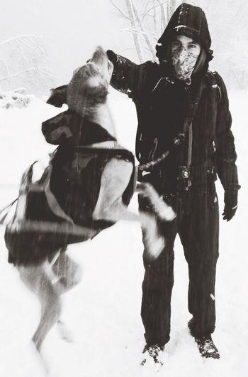 Snow Snowing Hiking Dogs Dog I Love My Dog Doggy Belowzero