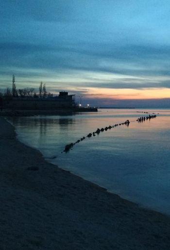 Ейская Море ейск Sea косаейская Закат коса Water Sunset Beach Blue Lake Reflection Sky Horizon Over Water