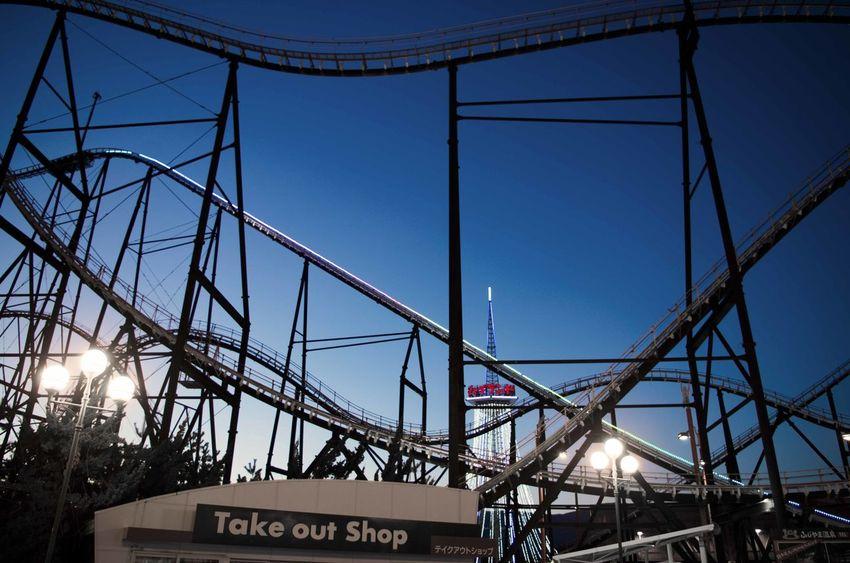 FujiQ highland EyeEmNewHere Amusement Park Ride Architecture Night No People Outdoors