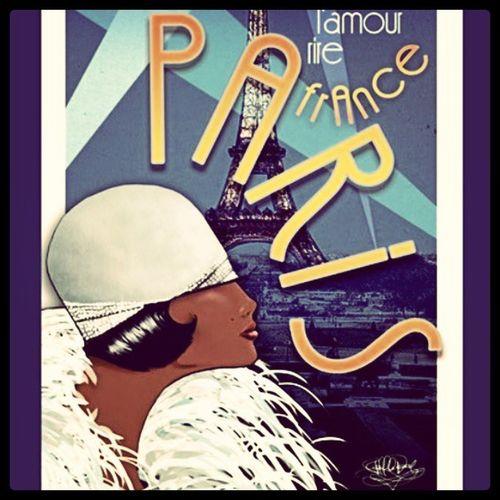 Art, Drawing, Creativity 1920s, Ragtime, Jazz Paris, Citylife, Europe, Travel Night Life, Party, Social Josephine Baker abecrod.imagekind.com