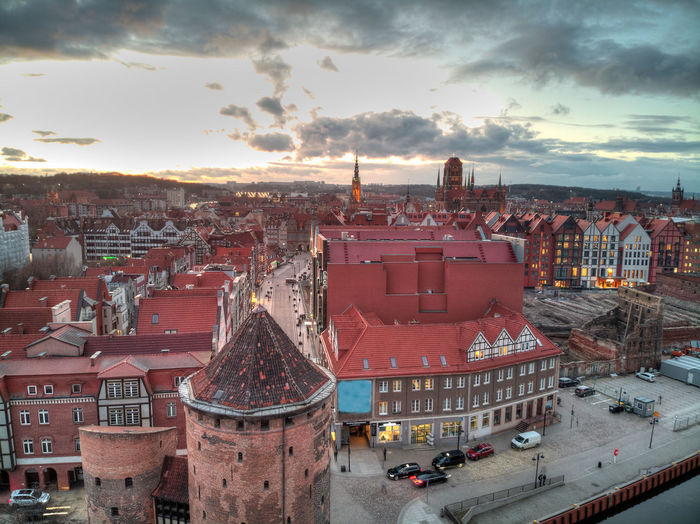 Gdansk old town from above