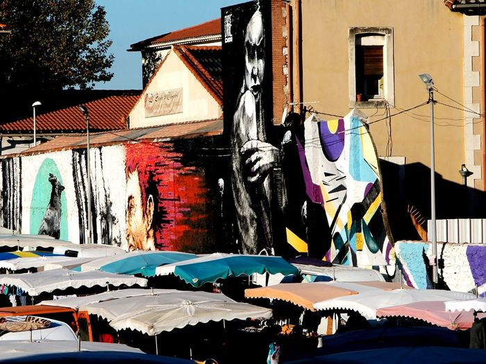 Building Exterior Architecture Water Built Structure Large Group Of People Outdoors Swimming Pool Multi Colored Day Sky Urban Lifestyle UrbanART Graffiti Wall Street Photography Street Art/Graffiti @streetartmarseille