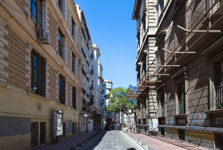 Beautiful empty street in Istanbul Turkey Architecture Istanbul Life In Istanbul Middle East Turkey Architectural Feature Empty Summer Travel Destinations Turkish