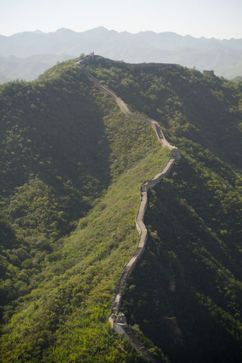 Great Wall Of China Amidst Mountains