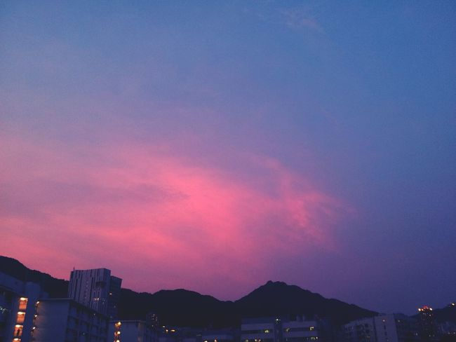 Magic moment, took by phone.Clouds Purple