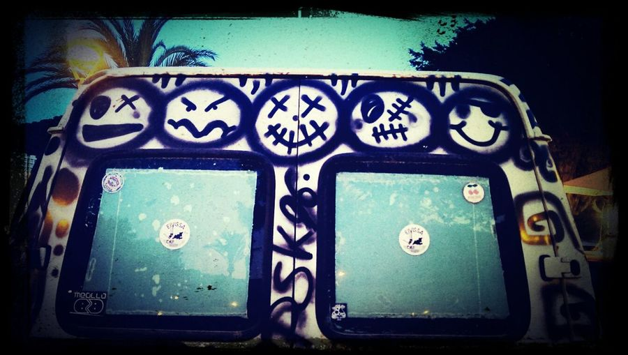 Hippy Bus @ Ibiza Summer 2014 Taking Photos Grunge Art