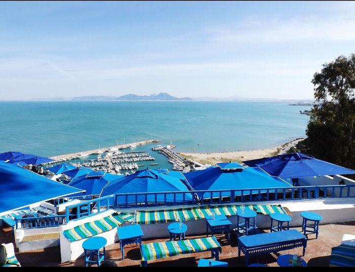 Tunis Sidi Bou Said Ocean Nature Beautiful View Blue