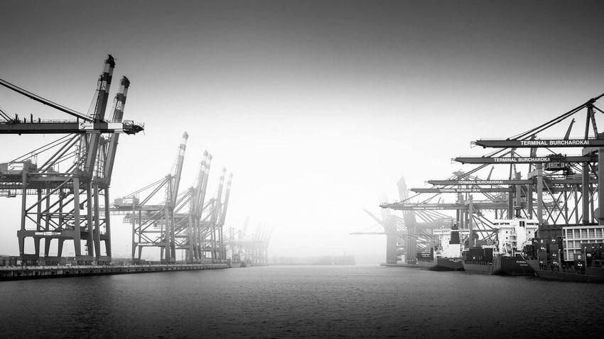Hamburg Schietwetter Waterkant Hafen Hamburger Hafen Landscape Blackandwhite