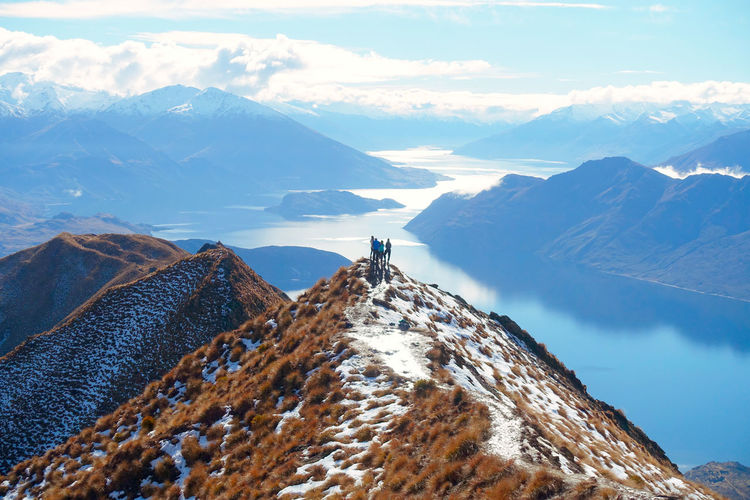 Roy's Peak | Wanaka | New Zealand Adventure Beauty In Nature Cloud - Sky Cold Temperature Day Environment Formation Hiking Leisure Activity Mountain Mountain Peak Mountain Range Nature Outdoors Real People Scenics - Nature Sky Snow Snowcapped Mountain Tranquil Scene Tranquility Winter Go Higher Go Higher The Traveler - 2019 EyeEm Awards