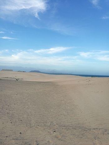 Sand Dune Desert Mountain Arid Climate Sea Beach Nature Reserve Sand Blue Water