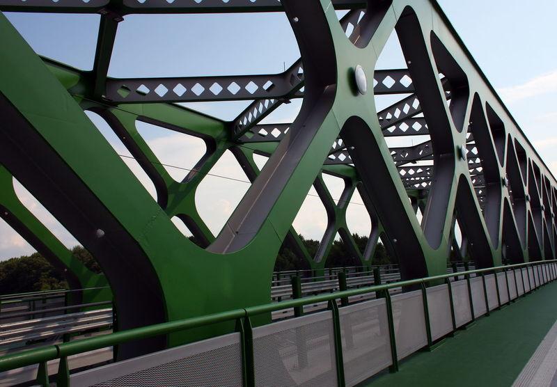 Architectural Detail Architecture Bridge Green Pozsony S Slovakia Urban Geometry