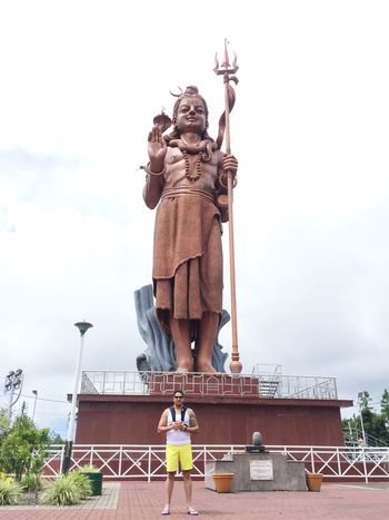 Lord Shiva Statue Sculpture Human Representation Male Likeness Monument Sky Low Angle View Architecture Built Structure Outdoors Day Memorial Travel Destinations Standing No People Building Exterior City