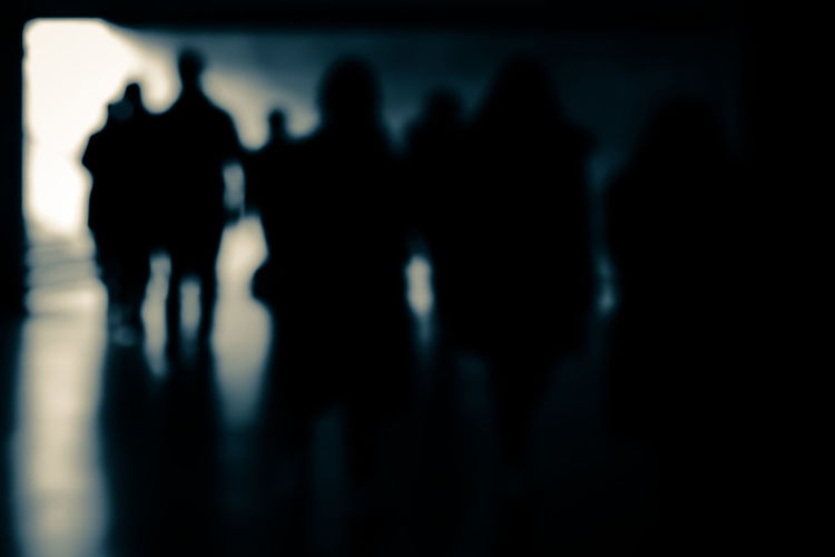 Group of people in the dark