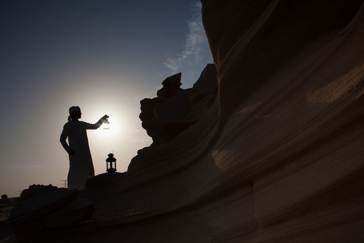 Statue in desert
