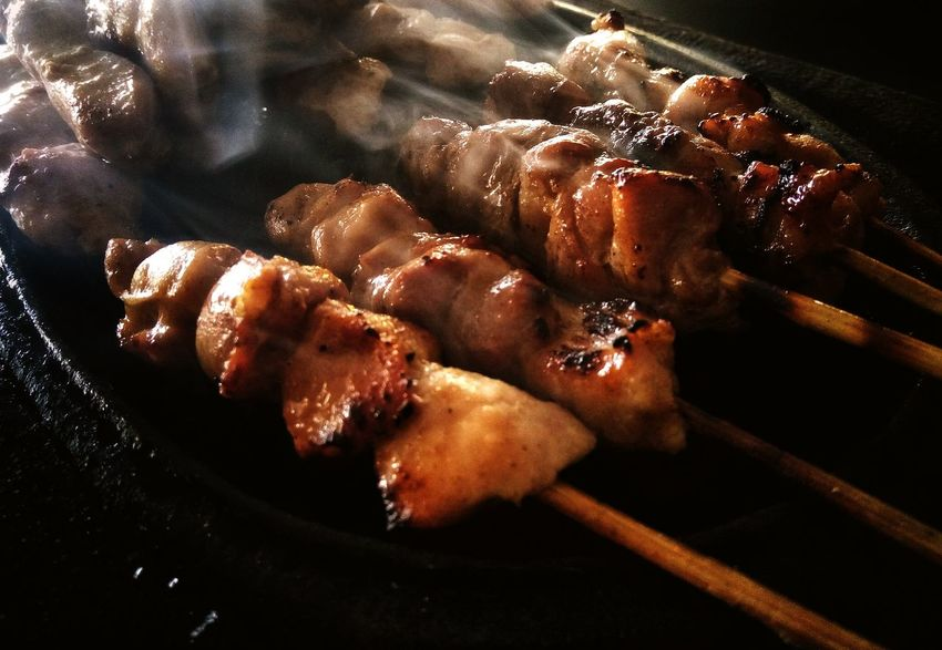 Food No People Black Background Healthy Eating Indoors  Indoors  Day Freshness Close-up Ready-to-eat Traditional Food Meat Grilled Meat INDONESIA Sate Satay With Bamboo Stick Satay