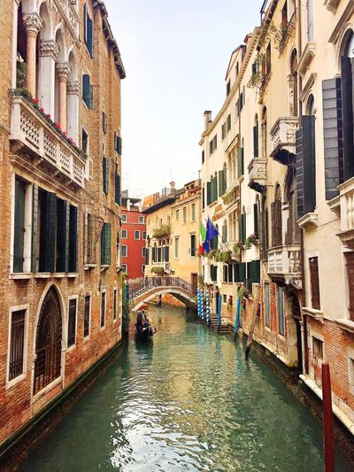 Canal In Venice Gondola Builings Venice, Italy Venice Canal Canals And Waterways Built Structure Architecture Building City Canal Water