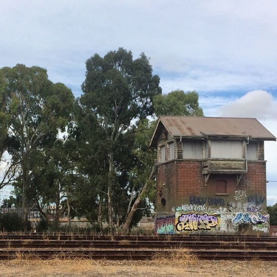Adelaide old control tower for the Train Graffiti Abondoned