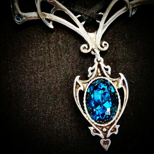 Crystal Jewelry Blue Crystal Alchemy Gothic Wiccan Jewelry