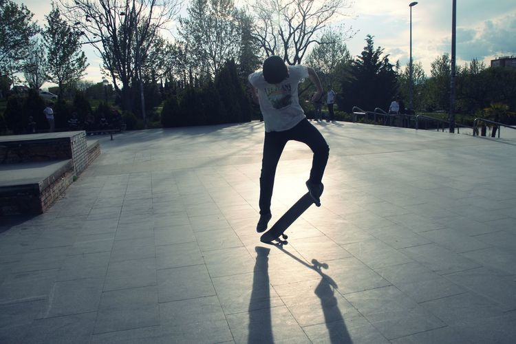 Day Leisure Activity Lifestyles Light And Shadow Outdoors Shadows Skate Skateboard Skateboarding Skatelife Skatepark Sky