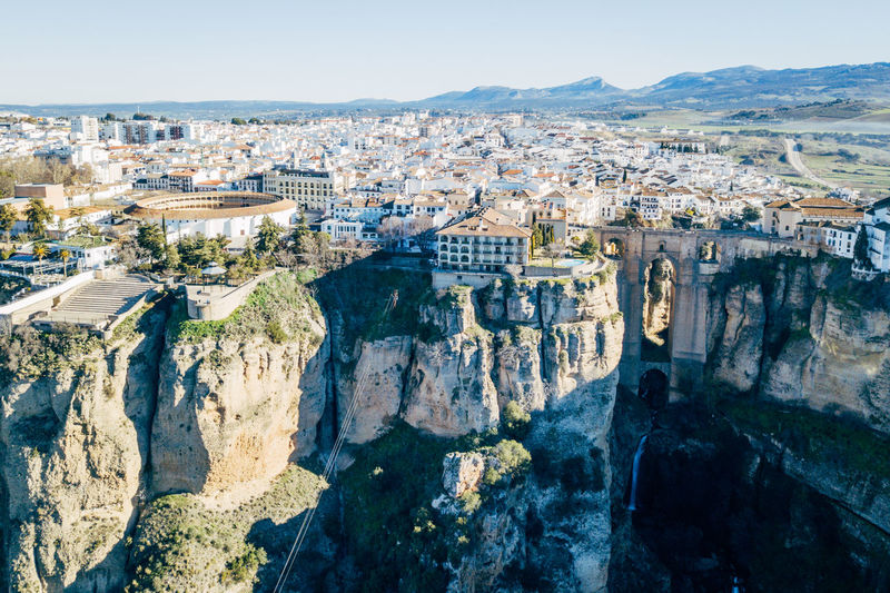 Andalucía City DJI X Eyeem Ronda Ronda Bridge Aerial View Architecture Beauty In Nature Bridge Day Mountain Nature No People Outdoors Scenics Sky Sunlight Travel Destinations