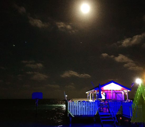 Neon night under the full moon Tropical Splendor Water Night Life. Taking Photos I LOVE PHOTOGRAPHY Just Taking Pictures Caye Caulker Tropical Paradise Go Slow Getting Inspired