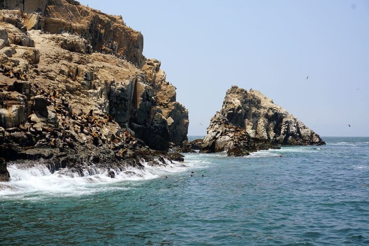 Callao has several amazing rock formations off it's coast including caves and massive breakers
