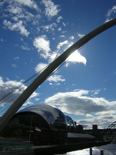 Architectural Feature City Life Cloud - Sky Cloudy Day Engineering Famous Place Gateshead Iron - Metal Millennium Bridge Modern Outdoors Sage Gateshead Sky Tourism