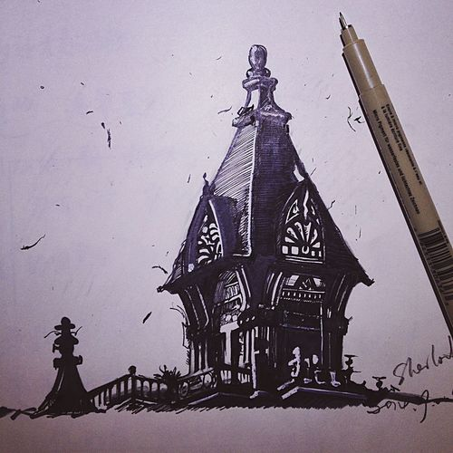 Art, Drawing, Creativity Check This Out Sketching Old House Pencil Drawing