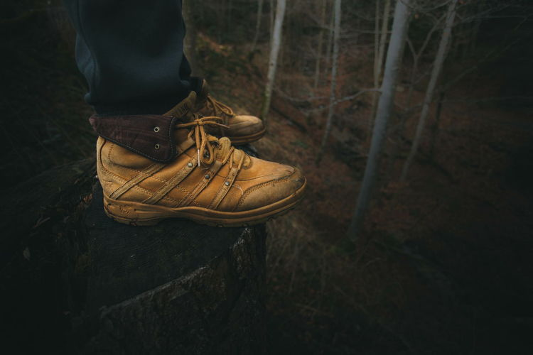 No fashion needed Shoes Nature Outdoors Forest