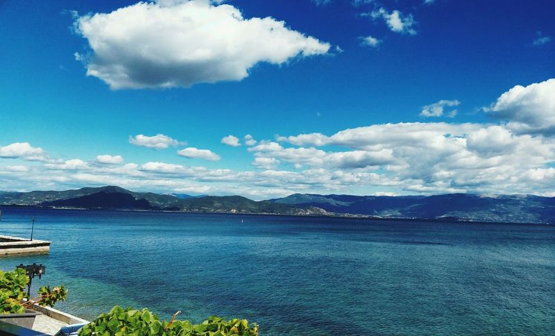 Lake Ohrid Struga Cloud - Sky Sky Outdoors Scenics Landscape Mountain Tranquility Nature Day Beauty In Nature No People Blue Water Travel Destinations Struga Macedonia