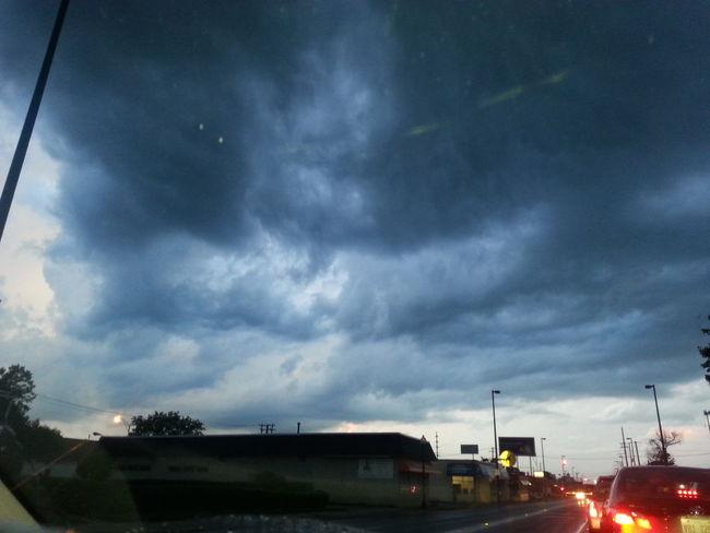 Dramatic Sky Dusk Mode Of Transport Thunderstorm