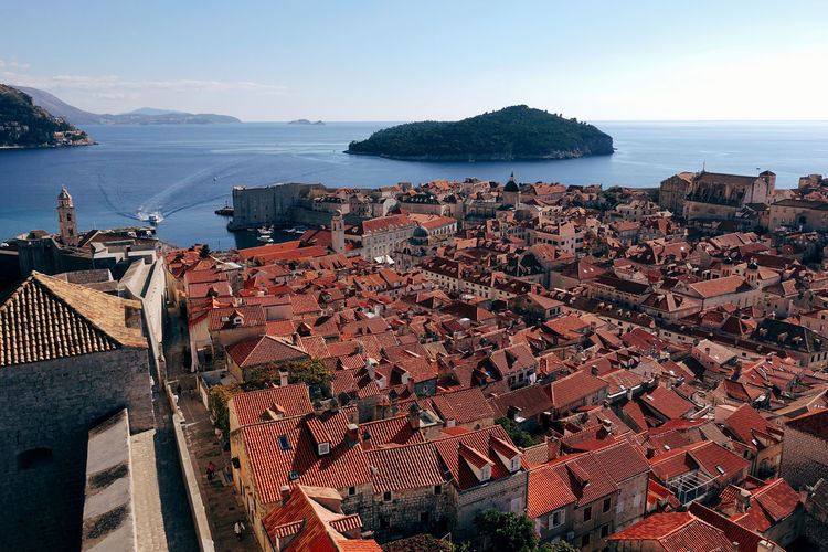 Architecture City Cityscape Historical Building Nature Old Town Red Roof Wall Arch Blue Building Exterior Built Structure High Angle View History Horizon Over Water Island Landscape Old Buildings Old City Outdoors Scenics Sea Town Water An Eye For Travel