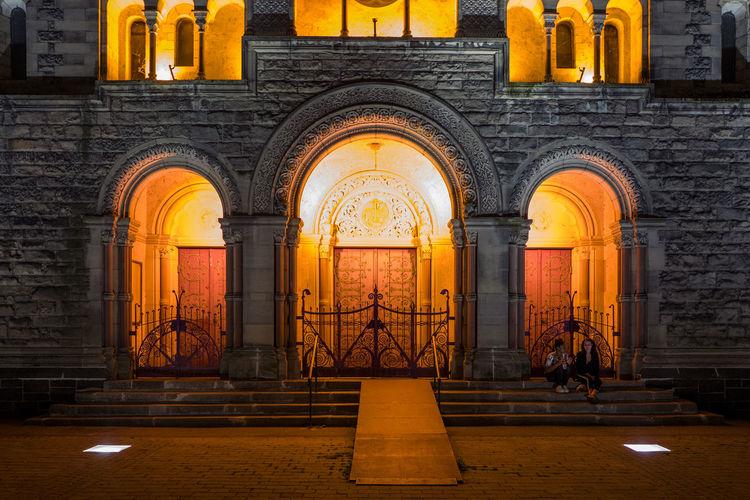 Exterior Of Illuminated Temple Neuf De Metz