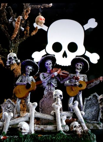 The skeleton band! Creepy Day Enjoyment Full Length Halloween Halloween Horrors Mask - Disguise Outdoors Scary Scary Face Skeleton Spooky Togetherness Vacations Young Adult