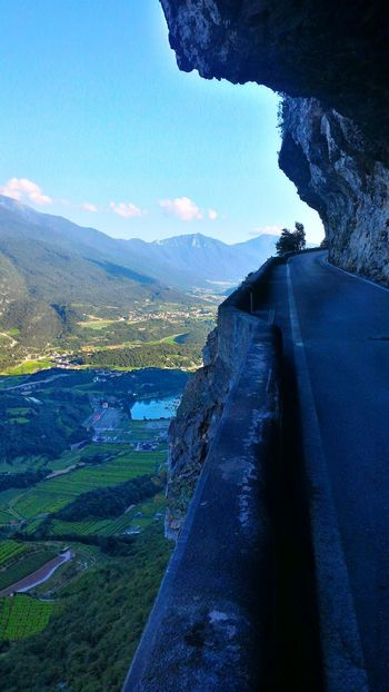 A road to heaven Mountain Road Cliffs North Italy Italy Vezzano Nature Road Mountains