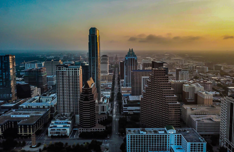 Up and out early to get the sunrise shot of beautiful downtown Austin, Texas City Skyscraper Surise_sunsets_aroundworld Travel Destinations Urban Skyline Cityscape Texas Austin Sky Building Modern Tall - High Nature Outdoors Built Structure