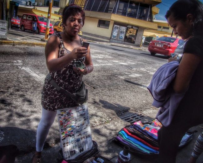 Street Photography Street Vendor HDR Collection People Watching in San Jose, Costa Rica
