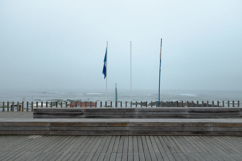 Lost in Portugal Threeweeksgalicia Water Sky Sea Pier Architecture Built Structure Fog Nature No People Day Wood - Material Outdoors Copy Space Building Exterior Horizon Tranquility Transportation Horizon Over Water