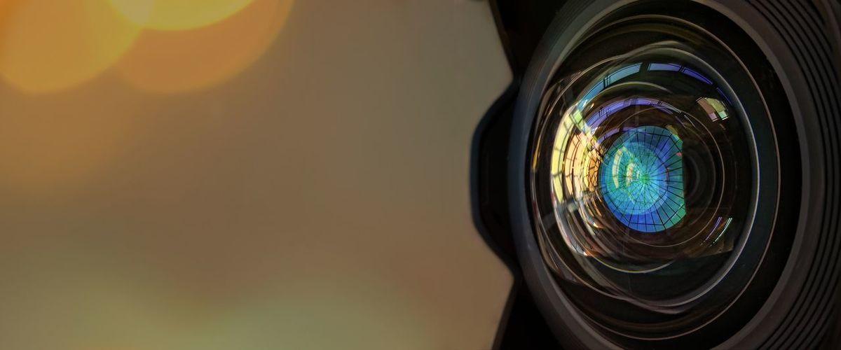 Close-Up Of Camera At Sunset