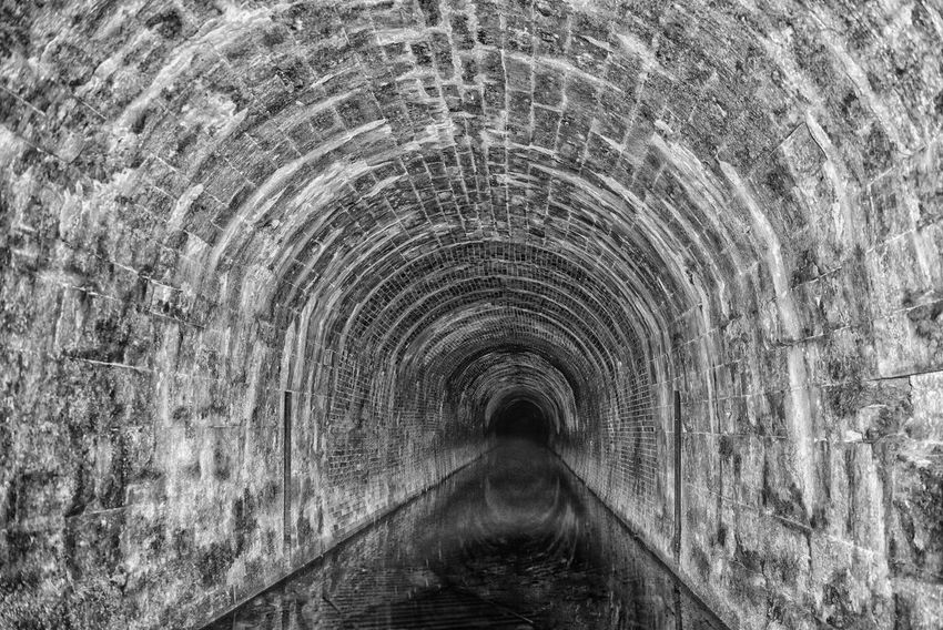 Longest canal tunnel in the UK Lost Arch Architecture Built Structure Distant View Indoors  Mono Monochrome No People The Way Forward Tunnel