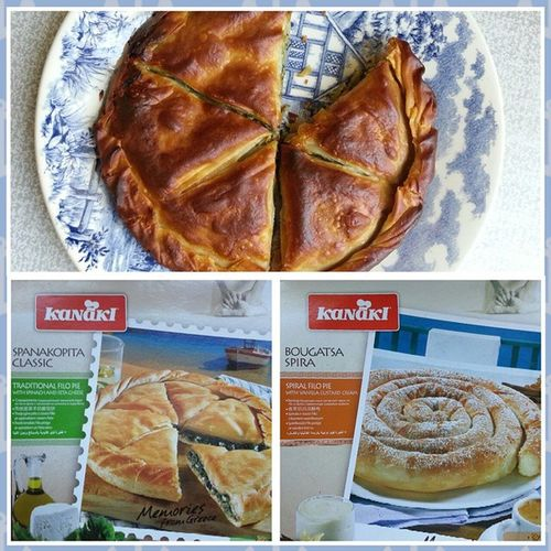 How wonderful is to find a Greek Spanakopita and a Greek Bougatsa Kanaki in a common supermarket Карусель in Russia!!!