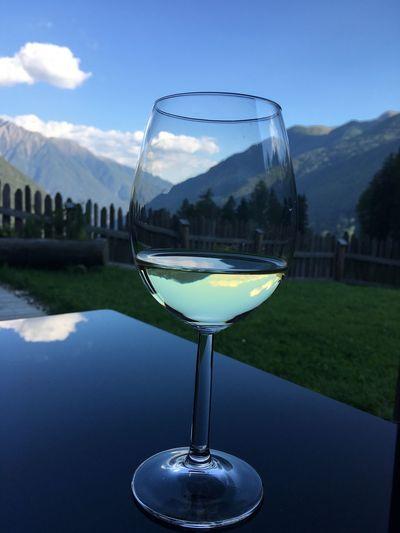 Glass Refreshment Drink Sky Nature Wineglass Wine