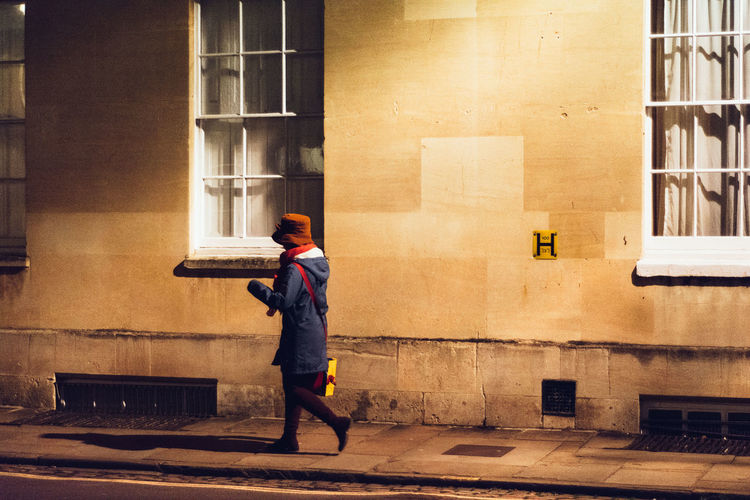 Winter in Oxford - England Adult Adults Only Architecture Building Exterior Built Structure City Day Full Length One Person One Woman Only Only Women Outdoors People Real People Window Women The Street Photographer - 2017 EyeEm Awards