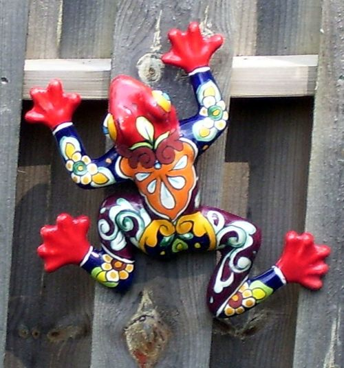 Art And Craft Creativity Decorative Frog Frog Multi Colored Multicolored Frog Real People Red Variation