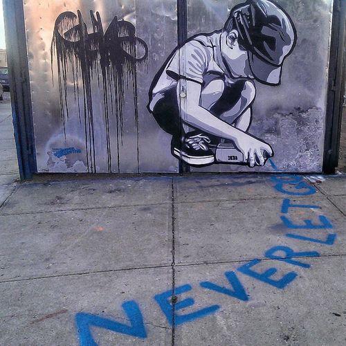 Never Let Go!, Bushwick Five Points, Brooklyn Graffiti Street Art Bushwick Brooklyn