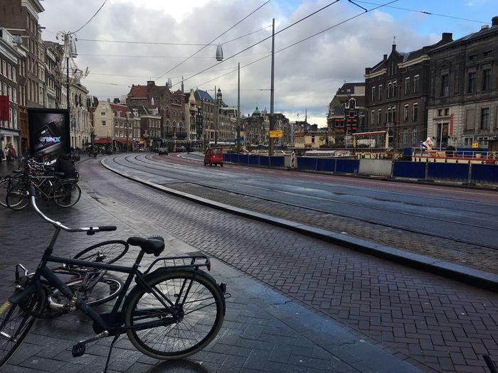 The Street Photographer - 2017 EyeEm Awards Bicycle Sky Railroad Track Street No People